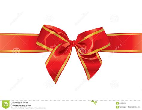 festive bow illustration stock photos image 3487353