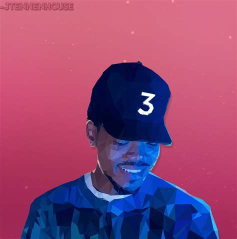 coloring book chance the rapper album low poly chance the rapper by jtennenhouse on deviantart