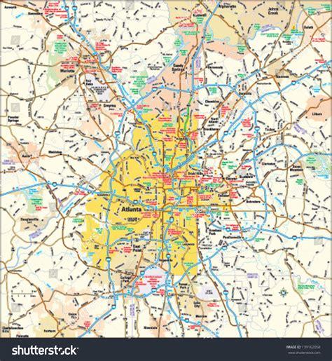 map of atlanta area atlanta map usa map guide 2016