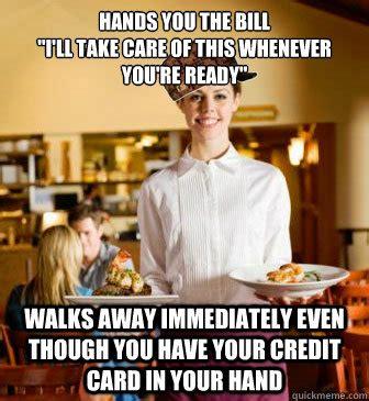 Funny Waitress Memes - restaurant server memes