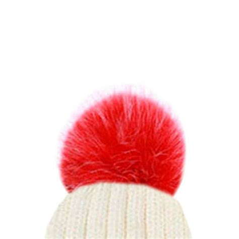 New Fluffy by New Fluffy Coloured Faux Fur Detachable Pom Pom For Winter
