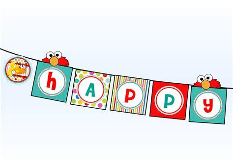 printable elmo banner elmo happy birthday banner sesame street happy birthday