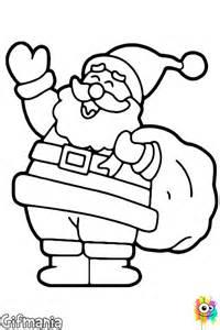 Coloring page of santa claus