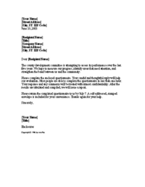 Cover Letter For Questionnaire Surveys by 13 Cover Letter Templates For All Templateinn