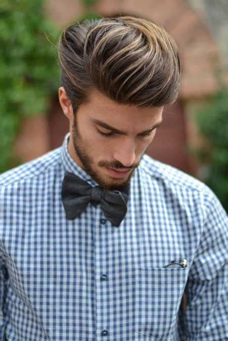 mariano di vaio hair color long thick swept back dark hair with blonde highlights