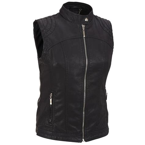 leather jacket with knit sleeves black rivet womens faux leather jacket w removable knit