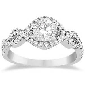 Infinity Engagement Rings Halo Infinity Engagement Ring Wedding