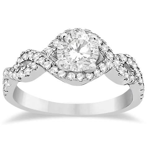 infinity engagement ring halo infinity engagement ring wedding