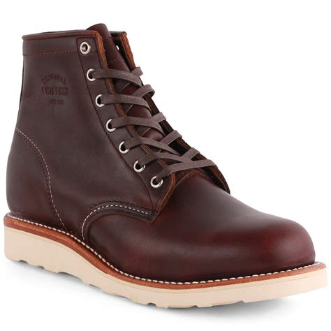 leather boots chippewa 1901m16 mens leather boots in oxblood