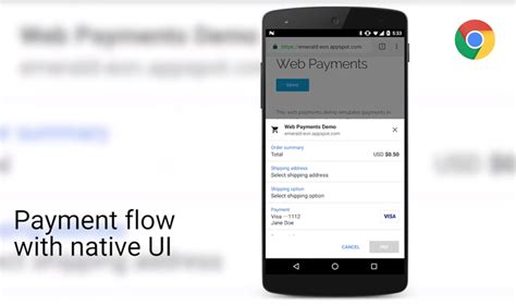 android pay api chrome for android beta gets updated to version 53 and comes with the new payment request api