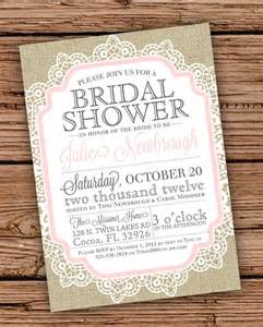 items similar to burlap and lace vintage bridal shower