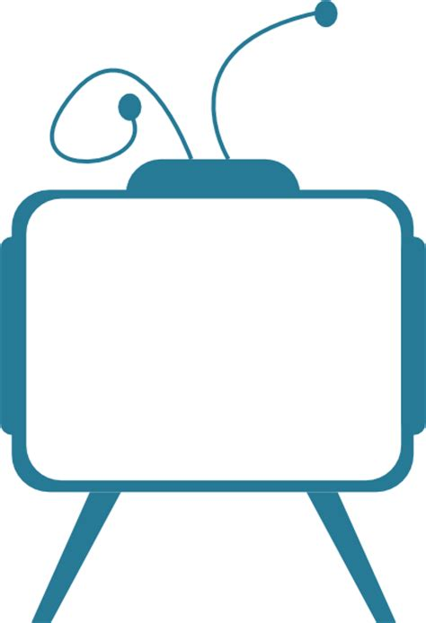 Blue Outline On Tv by Tv Set Clip At Clker Vector Clip Royalty Free Domain