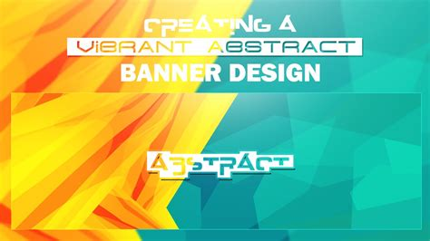 banner design with photoshop tutorial photoshop tutorial creating vibrant abstract banner