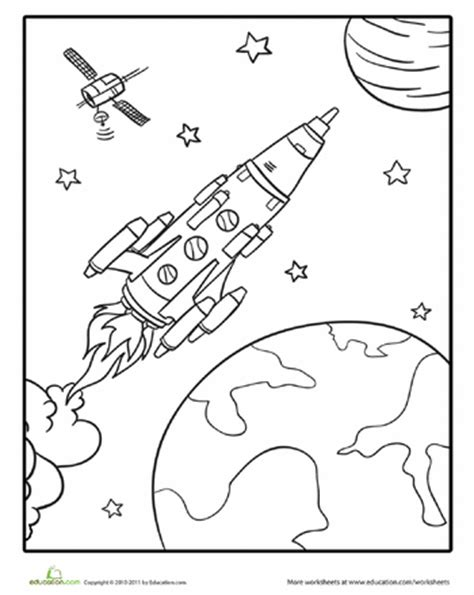 preschool coloring pages outer space outer space coloring pages education com