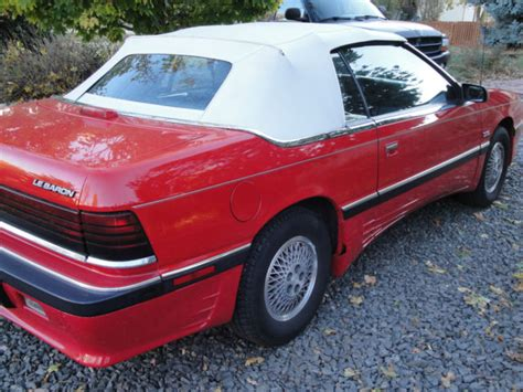 89 chrysler lebaron 1989 chrysler lebaron premium convertible 2 door 2 5l
