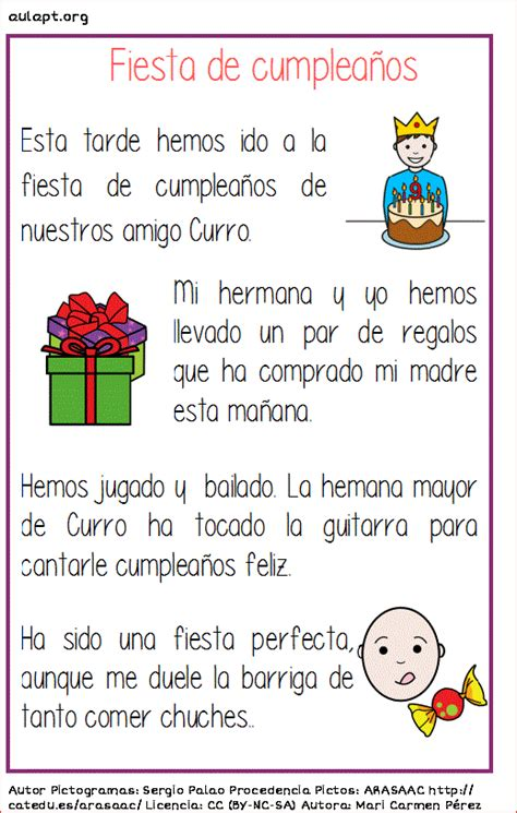 lectura para ninos de kinder en espanol lectura comprensiva fiesta de cumplea 209 os aula pt
