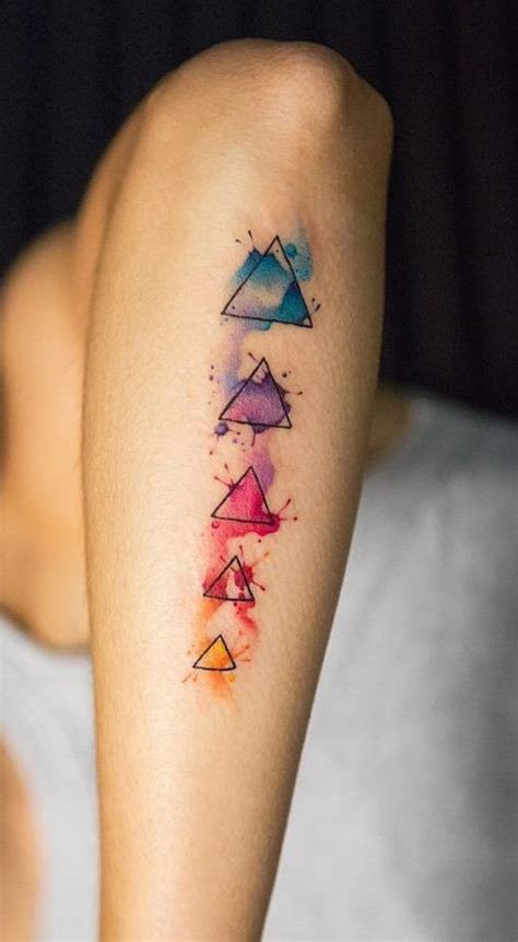 geometric tattoo california the 25 best watercolour tattoo geometric ideas on