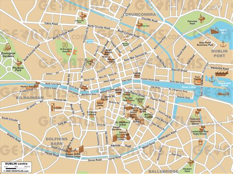printable map dublin city centre car hire dublin map images frompo