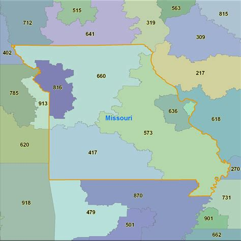Area Code 314 Lookup Map Missouri Area Codes 28 Images Missouri Zip Code Map From Onlyglobes