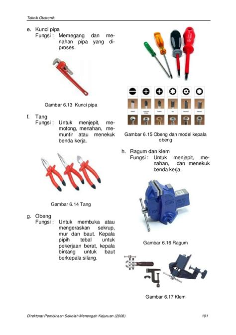 Kunci Pipa Besar bab 6 penggunaan peralatan dan perlengkapan perbaikan
