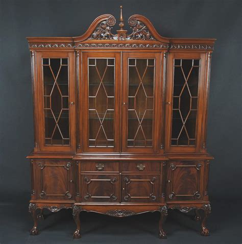 Mahogany China Cabinet by And Claw Four Door Mahogany China Cabinet Ebay