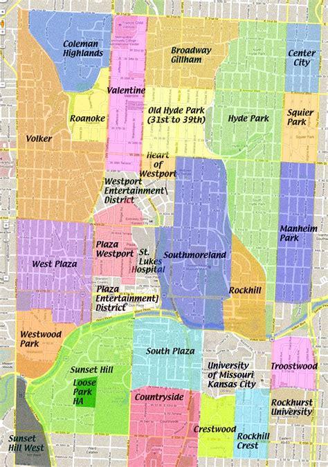 neighborhood kansas city midtown neighborhoods map midtown kc post
