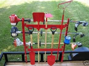 new jungle jim tool rack shovel rake for open enclosed