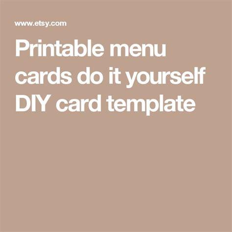 Yourself Card Template 25 menu card template ideas on fast