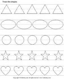 shape tracing templates tracing basic shapes worksheet turtle diary