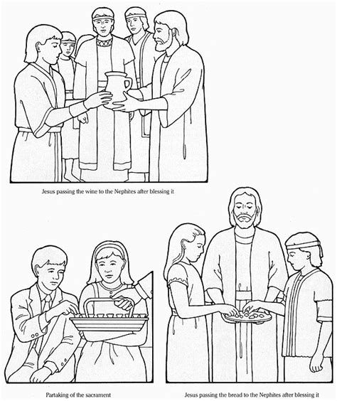 coloring pages lds sacrament flannel board figures st the nephites learn of the