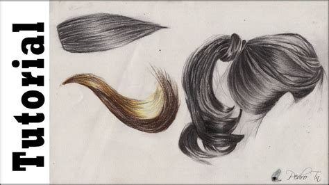 dibujos realistas tutorial tutorial como dibujar cabello realista by pedro tn youtube