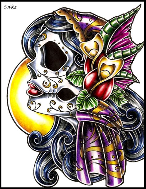 gypsy lady tattoo designs skull design by cakekaiser on deviantart