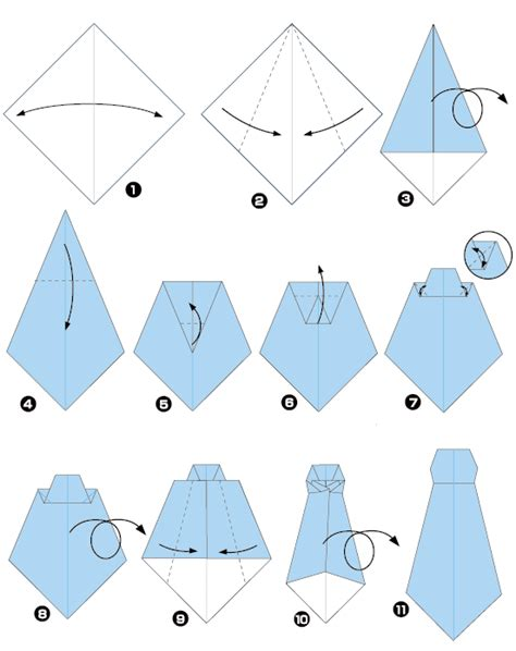 Origami Ties - origami of tie