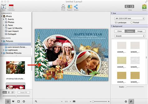 iphoto card templates how to create custom greeting cards in photos for mac