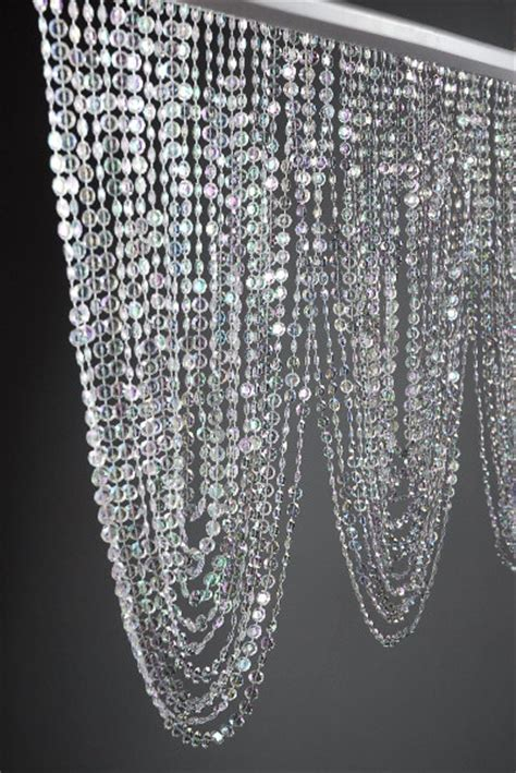 crystal drapes crystal swag valance with 66 garlands 35in