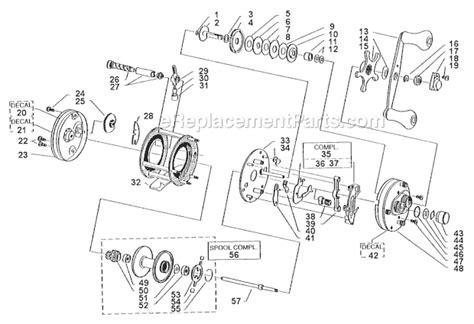 abu garcia parts diagrams abu garcia 5000 parts list and diagram 05 01