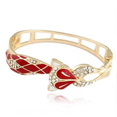 Bangle Tulip Shape Decorated Simple Design T5786f define fox alloy fashion bangles asujewelry