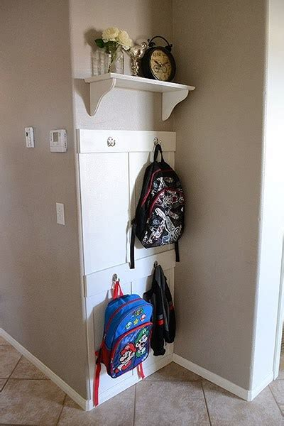 backpack rack for home 11 backpack storage ideas when you don t have a mudroom