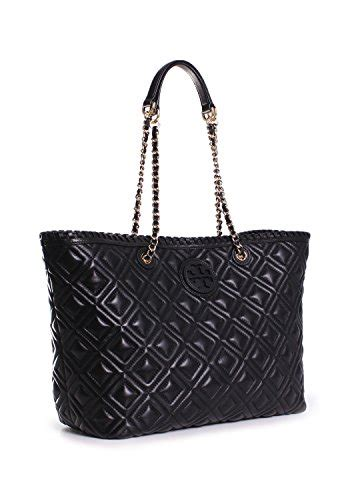 Burch Marion East West Tote Black burch marion quilted small east west tote in black in