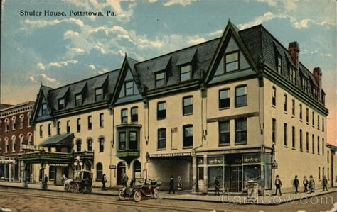 Post Office Pottstown Pa by View Of Shuler House Pottstown Pa Postcard