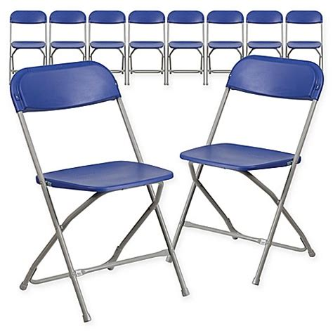 folding chair set of 10 buy flash furniture plastic folding chairs in blue set of