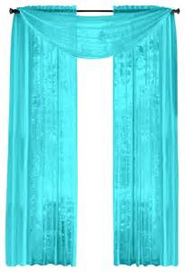aqua color curtains hlc me pair of sheer panels window treatment curtains
