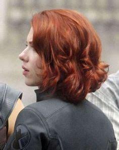 short cut black widow hair color avengers red haircuts