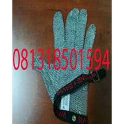 jual 081318501594 sarung tangan besi baja stainless