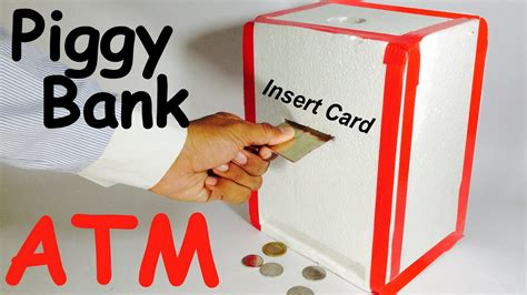 How To Make A Paper Bank - handmade items guides how to make piggy bank atm machine