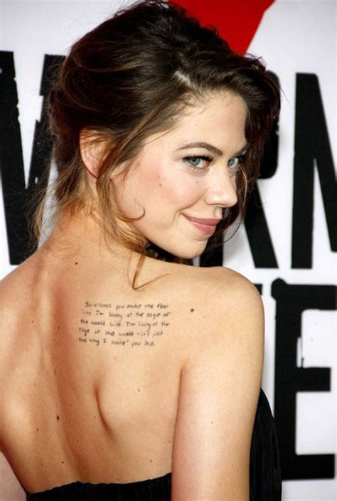 Angelina Jolie Tattoo Quote | 41 upper back quote tattoos