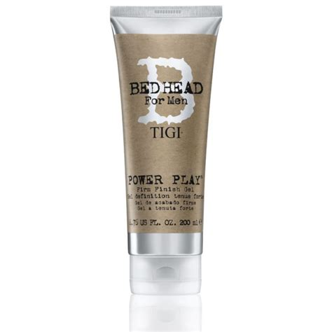 bed head gel tigi bed head for men power play firm finish gel 200ml