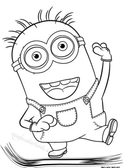 Disney Coloring Pages Minions | pin by magic color book on minions coloring pages free