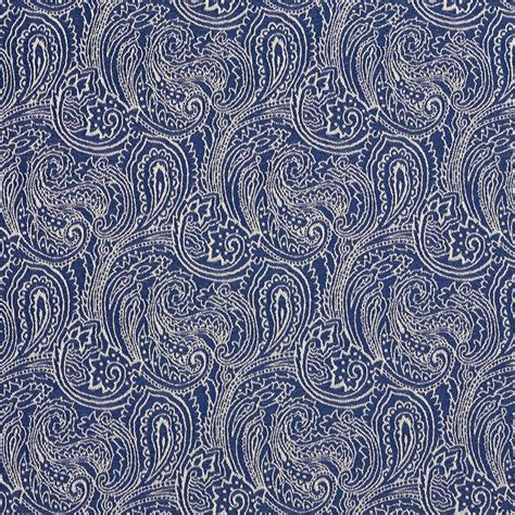 Blue Paisley Upholstery Fabric by B627 Navy Blue Paisley Woven Jacquard Upholstery Fabric