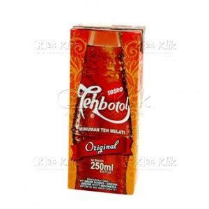 Teh Botol Sosro Kemasan Botol Plastik jual beli teh botol sosro 220ml kotak k24klik